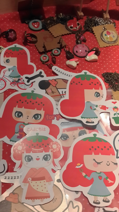 Diseño 072 12 Strawberry style stickers